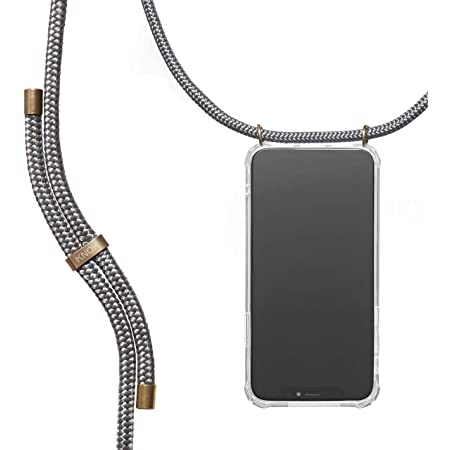 Phone Cover with Neckstrap Smartphone Necklace Case with Strap Neck Holder in Rainbow ZhinkArts Crossbody Phone Case for Apple iPhone X//XS
