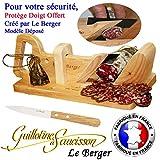 Guillotine à saucisson Traditionnel LE BERGER SECURITE PROTEGE DOIGT OFFERT +...