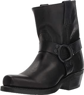 FRYE Women's Harness 8R Mid Calf Boot, Black, 7.5 M US