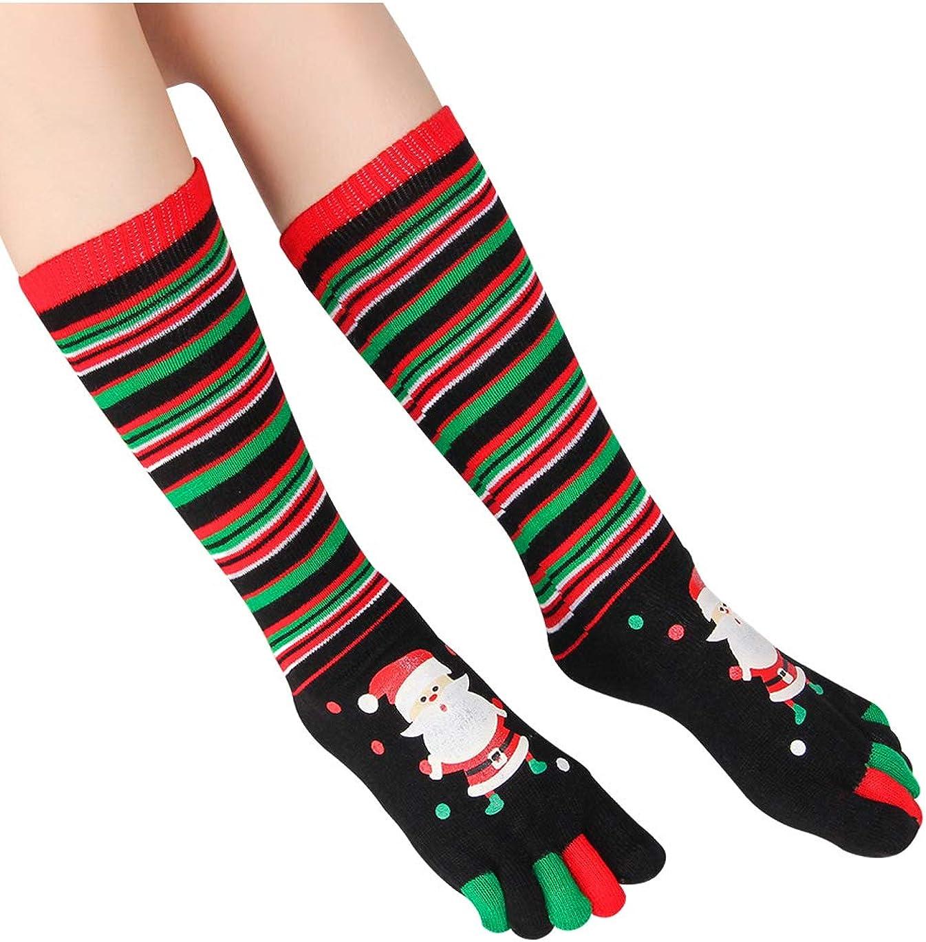 ShowPlus Max 40% OFF Christmas Socks Toe Girls for Ranking TOP2 Women