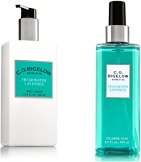 C.O. BIGELOW - Bath & Body Works GIFT SET- New scent collection of unisex fragrance,FRESHWATER LAVENDER,11.6 oz. body lotion,6.7 oz.Mist fragrance ,.!!...