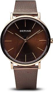 Bering 丹麦品牌 经典系列 皮带商务男表时尚简约蓝宝石镜面超薄男士手表腕表