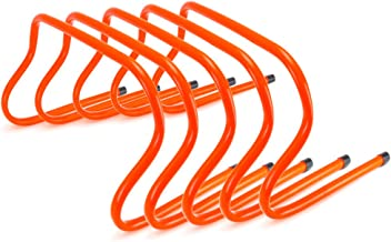 Crown Sporting Goods Speed Agility Training Hurdles, Pack of 5, Choose from 6-inch, 9-inch, or 12-inch