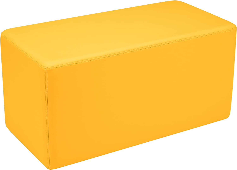 Sprogs Kids Vinyl Soft Seating Rectangle Stool Bench, 18  H, Gelb, SPG-1011YE-A B0723BMB9P | Elegant