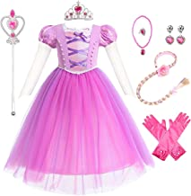 IZKIZF Girls The First Rapunzel Sofia Princess Costume Birthday Halloween Cosplay Fancy Dress Up Outfits with Accessories