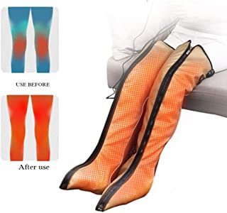 レッグエアマッサージャー、電熱Mレッグマッサージャー循環用レッグラップ3モード筋肉の3強度リラクゼーションリンパ浮腫浮腫痛み疲労,Us plug