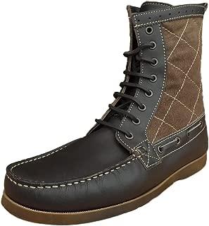 Henleys Men's Sandbar Leather/Textile Casual Boots Brown