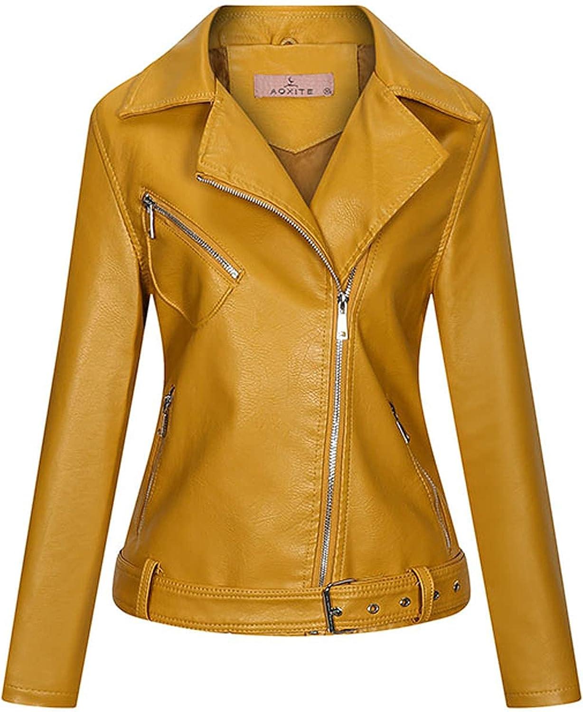 Bomber Jacket Women Long Sleeve Zip Pocket Leather Jacket Casual Short Coat Outwear Running Sweatshirts Jackets