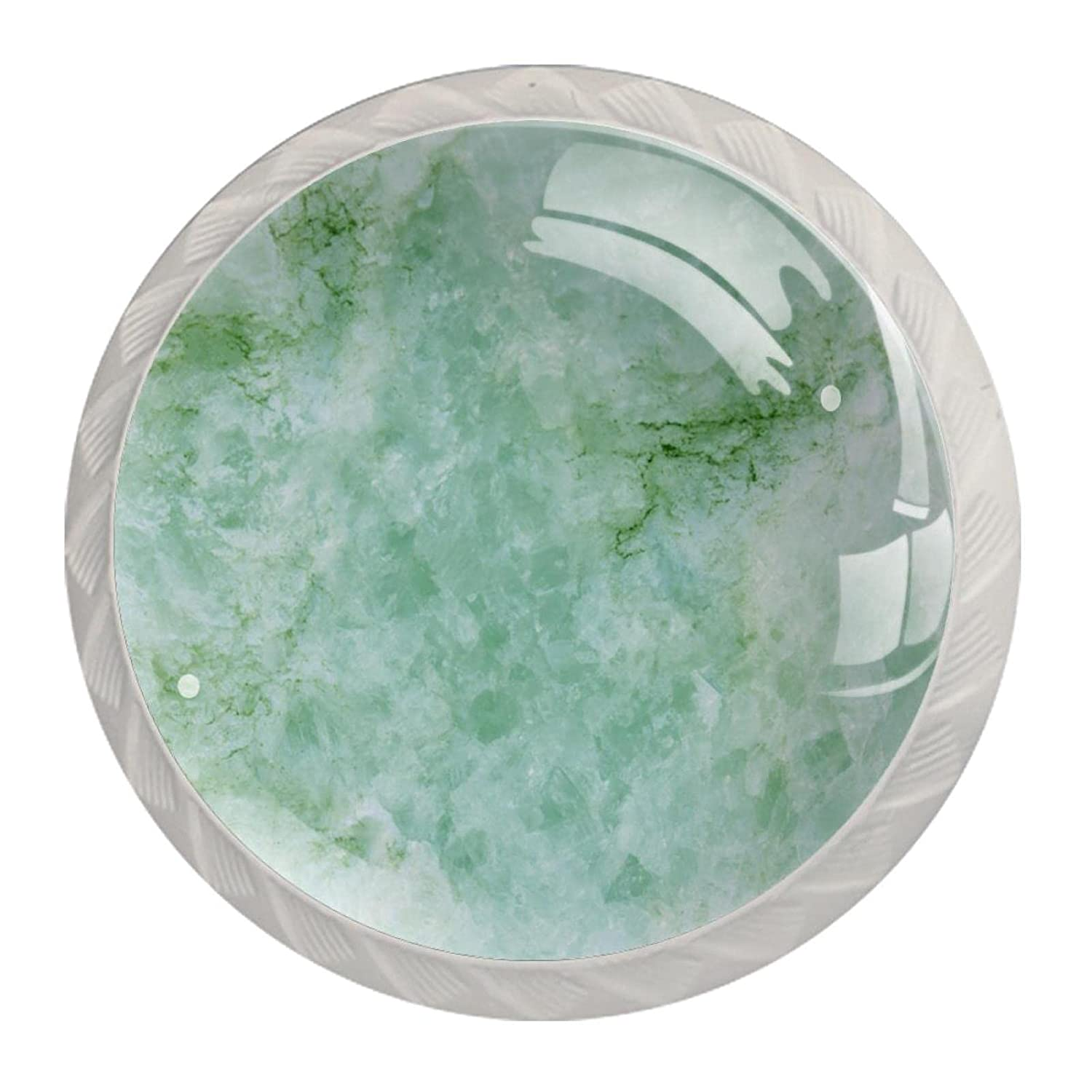 Cabinet Knobs Cheap mail order New color sales Sea Water Green 4 Crystal Round Glass Colorful pcs