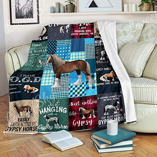 Sale!! Aint Nothin Like Gypsy Horse Blanket Throw Size - Blankets King Queen Twin Size Birthday for ...