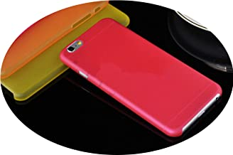New Slim Ultra Thin Colorful Translucent Clear Back Cover Phone Case for iPhone 4 4S 5 5S SE 5C 6 6S 7 8 Plus X XR XS Max Case,Red,for iPhone 8 Plus
