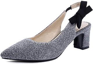 482a5375bebe4 Kinkie Escarpins Femme Bout Pointu avec Boucle Bride Arrière Chaussures Escarpins  Pas Cher