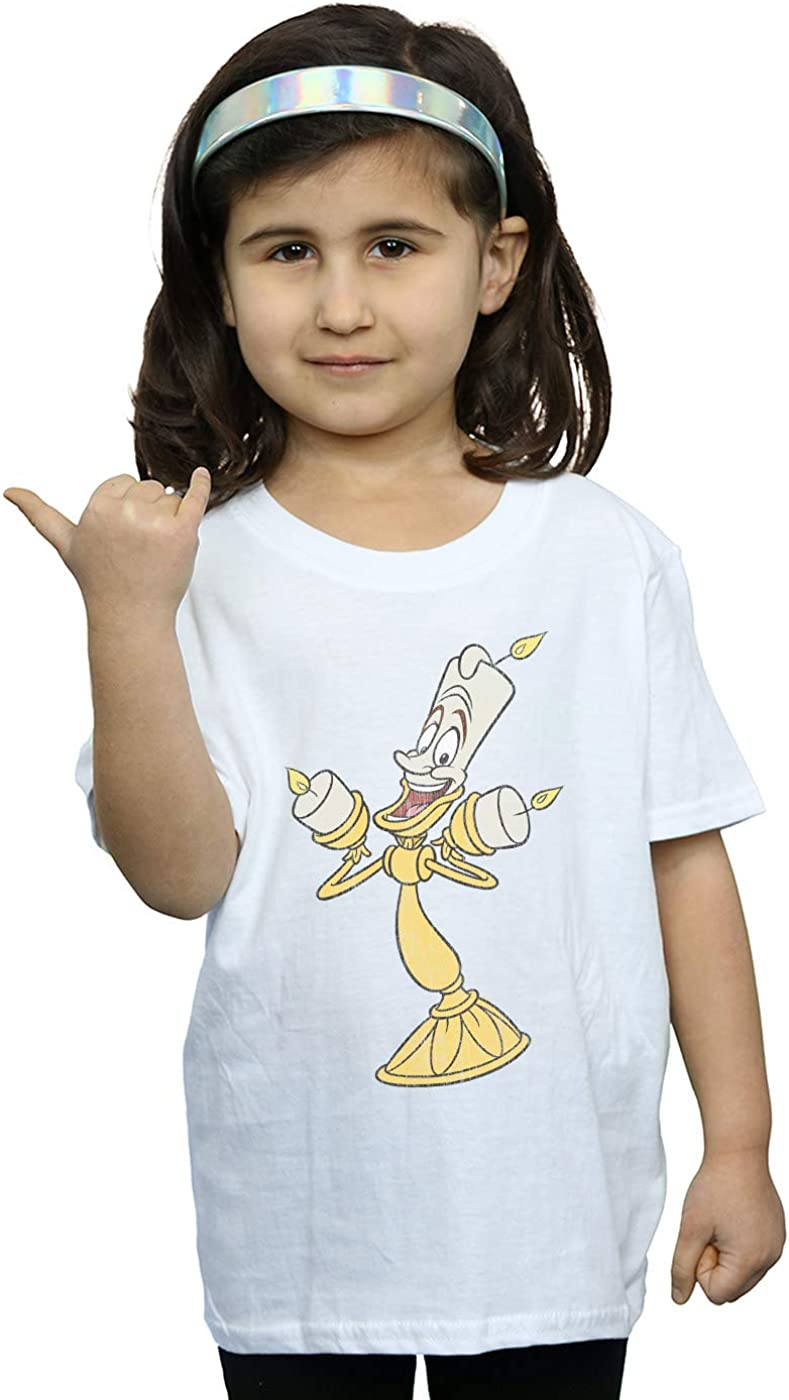 Disney Girls Beauty and The Beast Lumiere Distressed T-Shirt