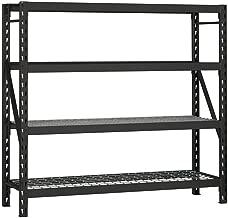 Husky 77 in. W x 78 in. H x 24 in. D Steel Commercial Shelving Unit (1)