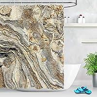 浴室のための夏のシャワーカーテン自然絵画プリント