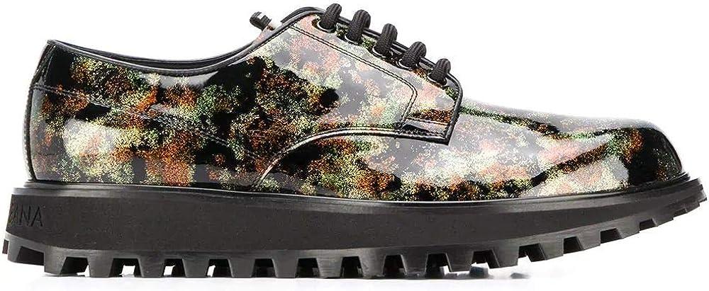 Dolce & gabbana luxury fashion scarpe stringate da uomo in pelle e pvc A10513AJ57489856