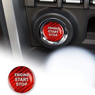 AIRSPEED Carbon Fiber Car Engine Start Button Sticker for Subaru BRZ Toyota 86 Accessories(Red)