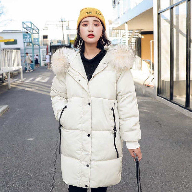 GUXIU Down Coats Winter Women Hoodie Long Down Jacket Women'S Cotton Coat Thicken Warm Slim Cotton Clothes Fashion