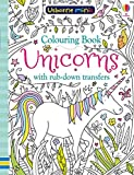 Colouring Book Unicorns with Rub Downs (Usborne Minis)