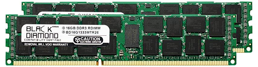 擬人化感染する内向き32GB 2X16GB Memory RAM for HP ProLiant Series DL360 G7 Base 240pin PC3-10600 1333MHz DDR3 ECC Registered RDIMM Black Diamond Memory Module Upgrade