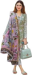 سلوار هندي أنيق بتصميم مستوحى من أزياء فرقة الروك بيور جام مع فستان مطرز بفستان إسلامي باكستاني 6098
