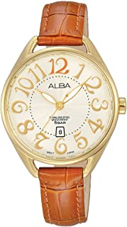 Alba Leather Casual Watch For Women , AH7J94X