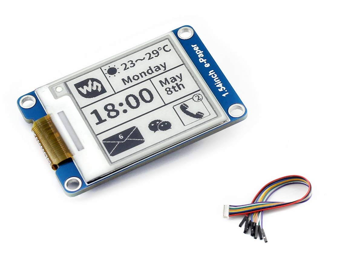1.54 Inch E-Ink Screen Display e-Paper Module Support Partial Refresh for Arduino for Raspberry Pi