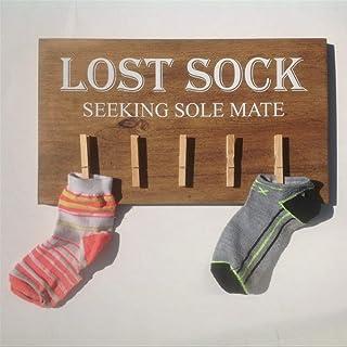 Plaque murale en bois avec inscription « Lost Sock Seeking Mate » - Décoration murale pour buanderie - Décoration murale