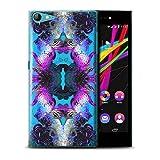Stuff4® Hülle/Hülle für Wiko Highway Star 4G / Lila/Blaue Blumen Muster/Symmetrie Muster Kollektion