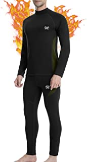 MEETWEE Men's Thermal Underwear Set, Compression Base Layer Long Johns Long Sleeve Top Shirt Suit for Winter Workout