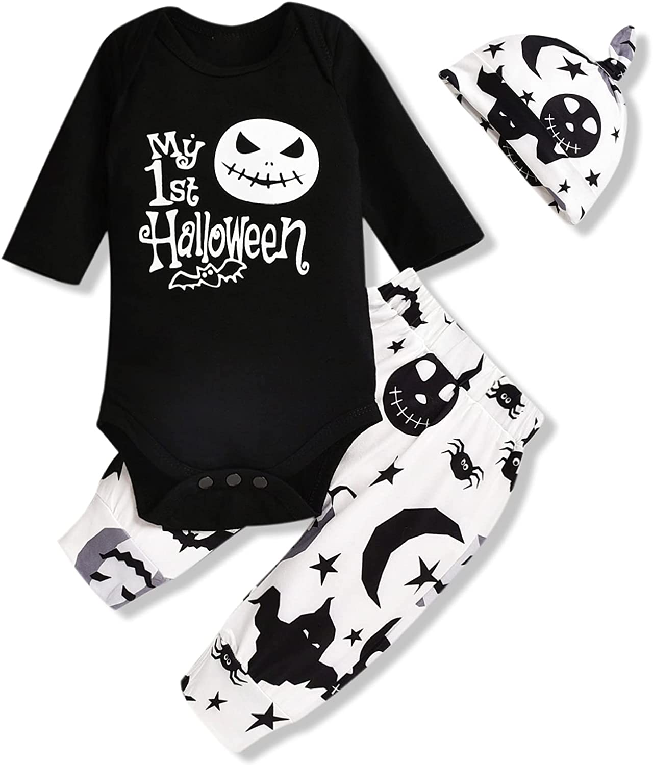 Baby Boys Halloween Clothes, My 1st Halloween Outfits Romper Pants Set