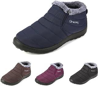 Women's Winter Snow Boots Fur Lined Warm Ankle Booties Outdoor Waterproof Slip on Sneakers Shoes