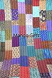 Mango Geschenke Indian Silk Sari Patchwork Kantha Vintage