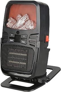FXNB Calentadores de Ventilador, Mini Ventilador del Calentador Calentador portátil, Llama Efecto de Control Remoto Calentador eléctrico Función Estufa radiador de temporización para la