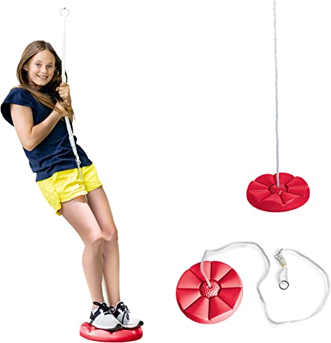 Squirrel Products Red Disc Tree Swing - Best Swings Sets For Older Kids