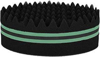 Anself Oval Brush Double-sided Hair Twist Sponge Magic Hair Braider for Afros Dreadlocks Curl Coil Wave (Green)