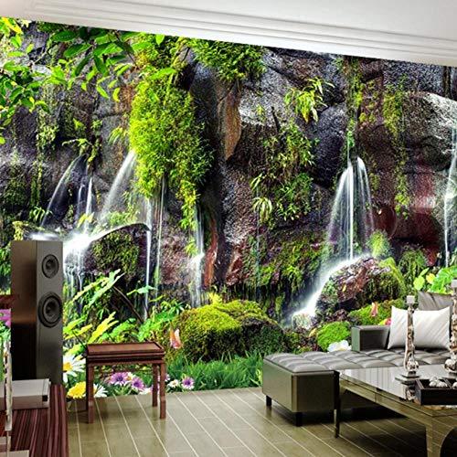 Mazhant Benutzerdefinierte 3D Wallpaper Garten Wasserfall Landschaft Fototapeten Wohnzimmer Tv Sofa Schlafzimmer Hintergrund Wand Selbstklebende Fresko-350X245cm
