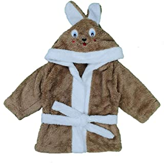 Erkek Bebek Şapkası Tavşanlı Bornoz 1-3 Yaş Kahve - C74076-1