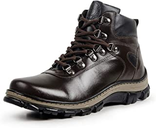 fda3392406 Bota Coturno Adventure Couro Masculino Confort Plus Macia