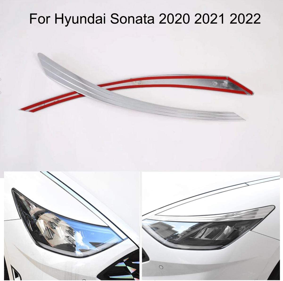 Yingchi Max 5% OFF 70% OFF 2Pcs Car Chrome Front Lamp Headlight Eyelids Mould Cover