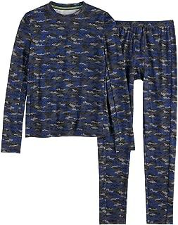 Boys Winter Base-Layer Thermal Underwear top Bottom Set Thumbhole