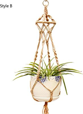 Handgemacht Hänge Pflanz Korb Blumenampel Pflanzen Hängetopf Hängende Seil GROßE