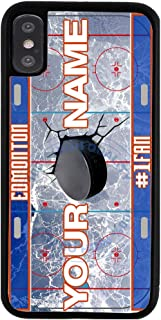BRGiftShop Customize Your Own Hockey Team Edmonton Rubber Phone Case for Apple iPhone XR
