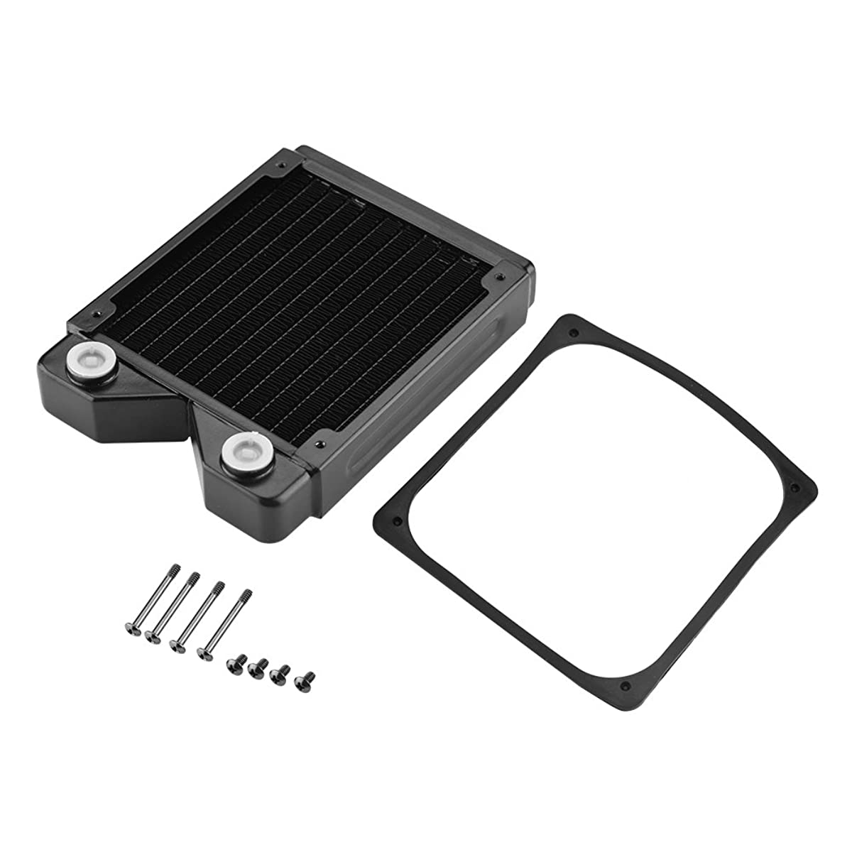 fosa G1/4 Thread 120mm/240mm/360mm PC Water Heat Exchanger Computer Copper Heat Radiator Heat Sink for Computer Water Cooling System(120 mm)