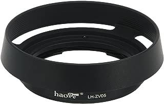 Haoge LH-ZV05 バヨネット メタル ラウンド レンズ フード シェード 対応 カール ツァイス Carl Zeiss Biogon T 2/35 35mm f2 ZM, C Biogon T 2.8/35 35mm f2.8 ZM, Planar T 2/50 50mm f2 ZM; フォクトレンダーVoigtlander NOKTON Classic 35mm f1.4 VM, 35mm f1.4 VM II, 40mm f1.4 VM 換え LH-6