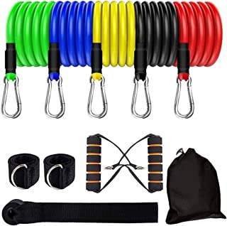 FHCL-US Exercise Bands with Handles, Resistance Bands Set...