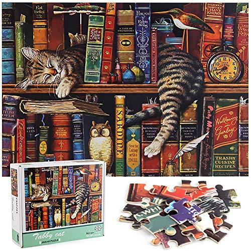 ZHENGJIANG Puzzle 1000 elementów, puzzle dla dorosłych, puzzle dla dorosłych, gra zręcznościowa dla całej rodziny, - koty od Charles Wysock…