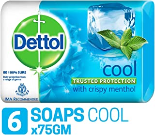 Dettol Cool Soap - 75g (Pack of 6)