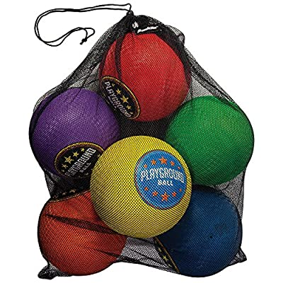 "Franklin Sports Playground Balls - Rubber Kickballs and Playground Balls For Kids - Great for Dodgeball, Kickball, and Schoolyard Games – 8.5"" Diameter, Multicolor Pack of 6"
