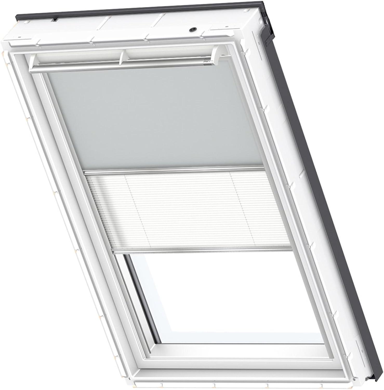 VELUX Original Duo Blackout Blind for Skylight Roof Window, SK06, Light Grey White